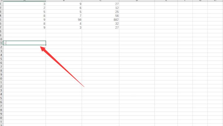 1.打开电脑上的Excel表格选择一个空白单元格。