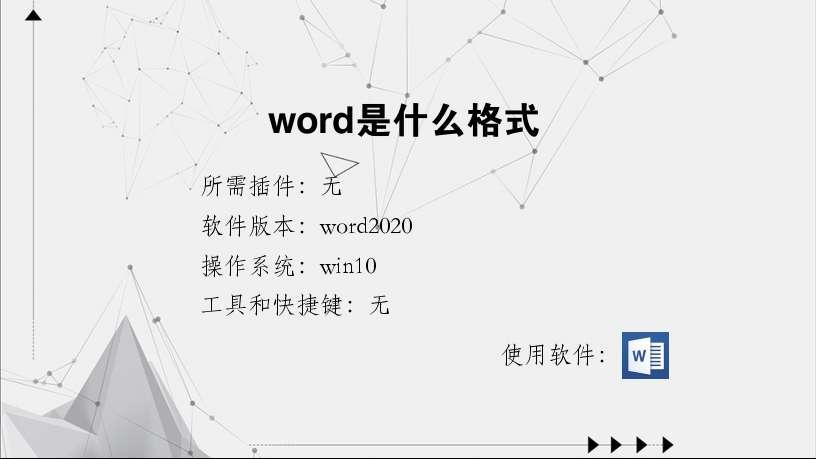 word是什么格式