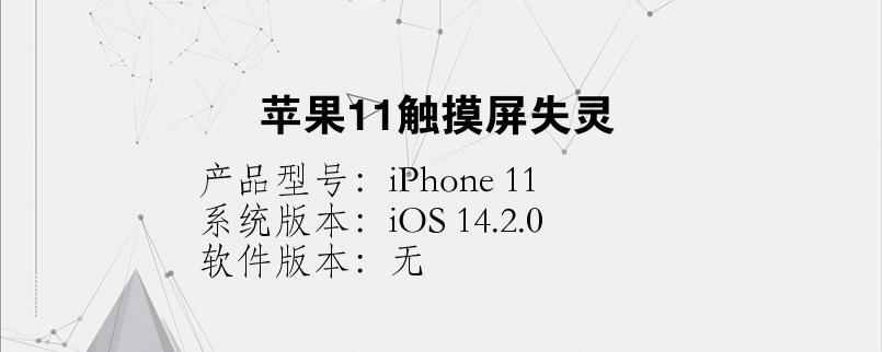 手机知识:苹果11触摸屏失灵