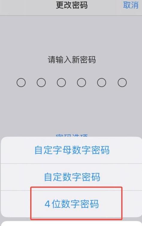 iphone改不回4位密码第7步
