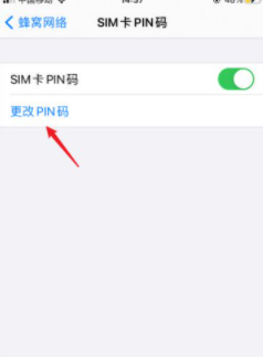 苹果手机sim卡密码怎么设置在哪里第6步